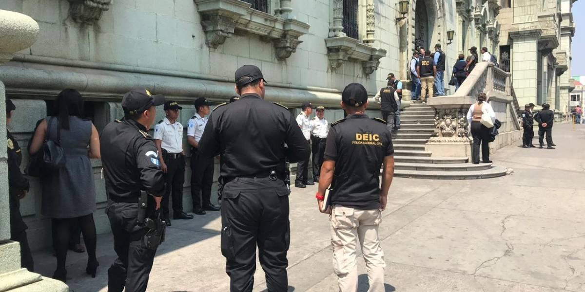 Ministerio Público realiza allanamiento en el Palacio Nacional