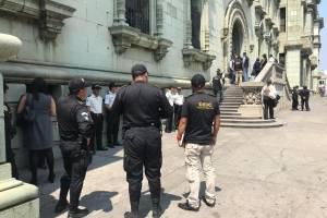 allanamiento en el Palacio Nacional de la Cultura