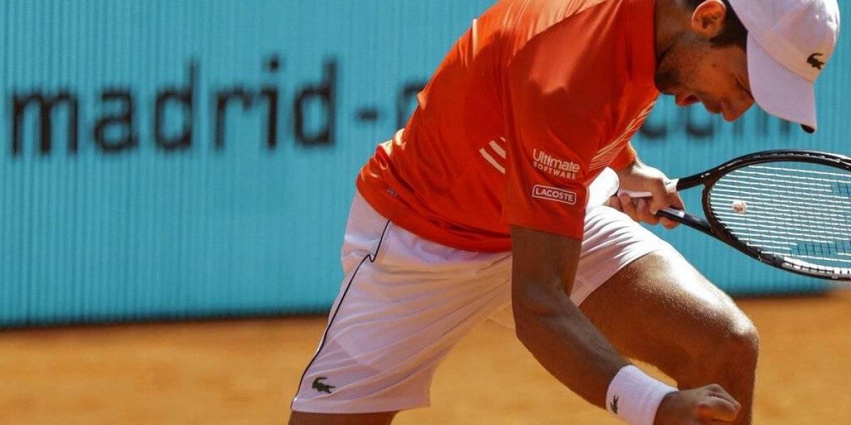 Novak Djokovic adelanta a los cuartos de final en Madrid