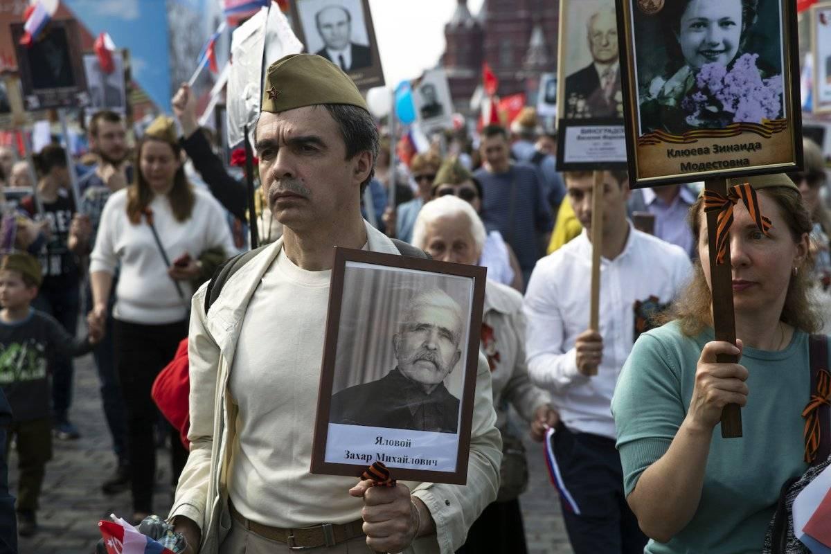 Día de la Victoria en Rusia Foto: AP