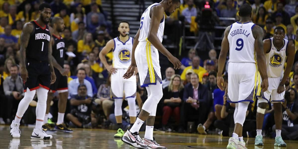 Kevin Durant se pierde el resto de la serie contra los Rockets