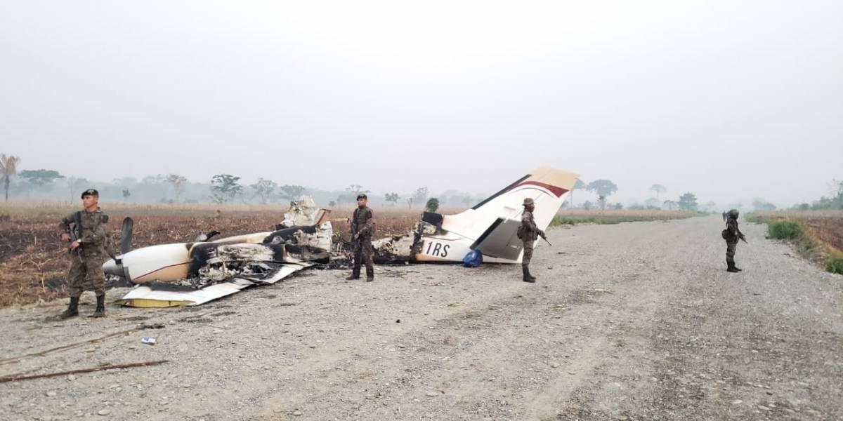 Detectan avioneta que ingresó ilegalmente al país y aterrizó en Alta Verapaz