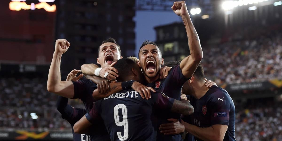 ¡Otro inglés! Arsenal ganó, gustó y goleó al Valencia y clasificó a la final de la Europa League