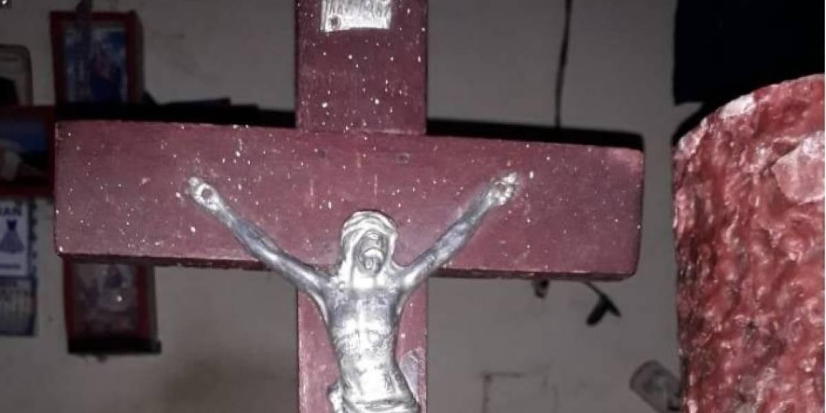 El Cristo que dicen que lloró sangre en Antioquia