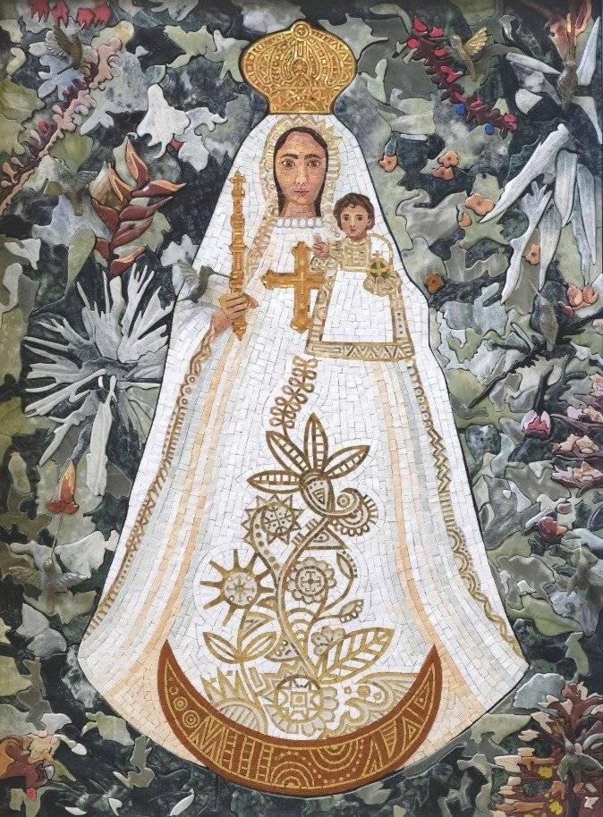 Mosaico de la Virgen de El Quinche