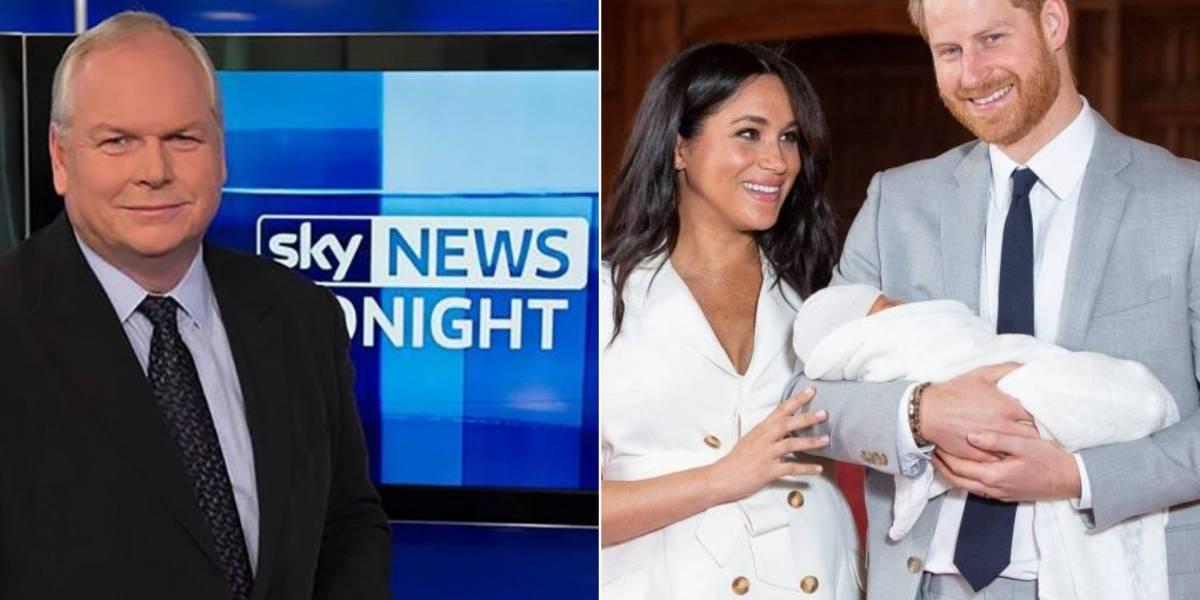 Apresentador da BBC é demitido após tweet racista sobre bebê de Meghan Markle e Harry