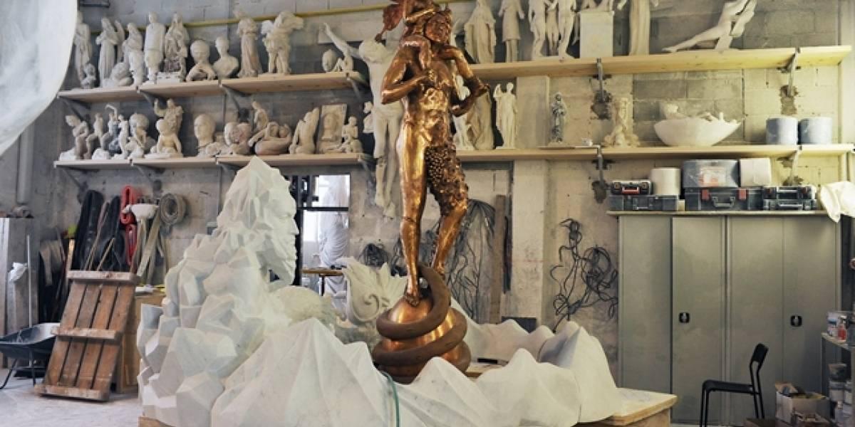 Escultura em fonte na Itália é acusada de satanismo e é 'exorcizada'