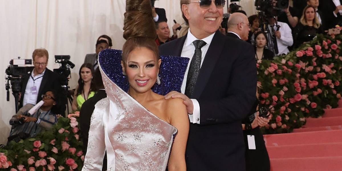 Met Gala 2019: Destrozan a Thalía en Instagram por foto que publicó su esposo, Tommy Mottola