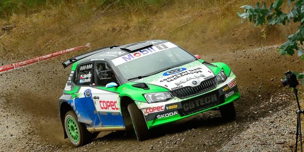 Jorge Martínez saca la cara por los chilenos en el WRC de Chile