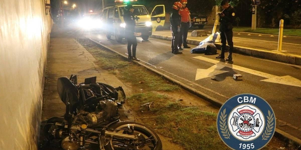 Motorista muere en accidente de tránsito en zona 14