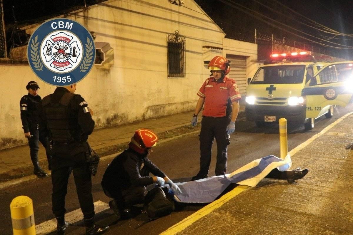 motorista fallecido en zona 14