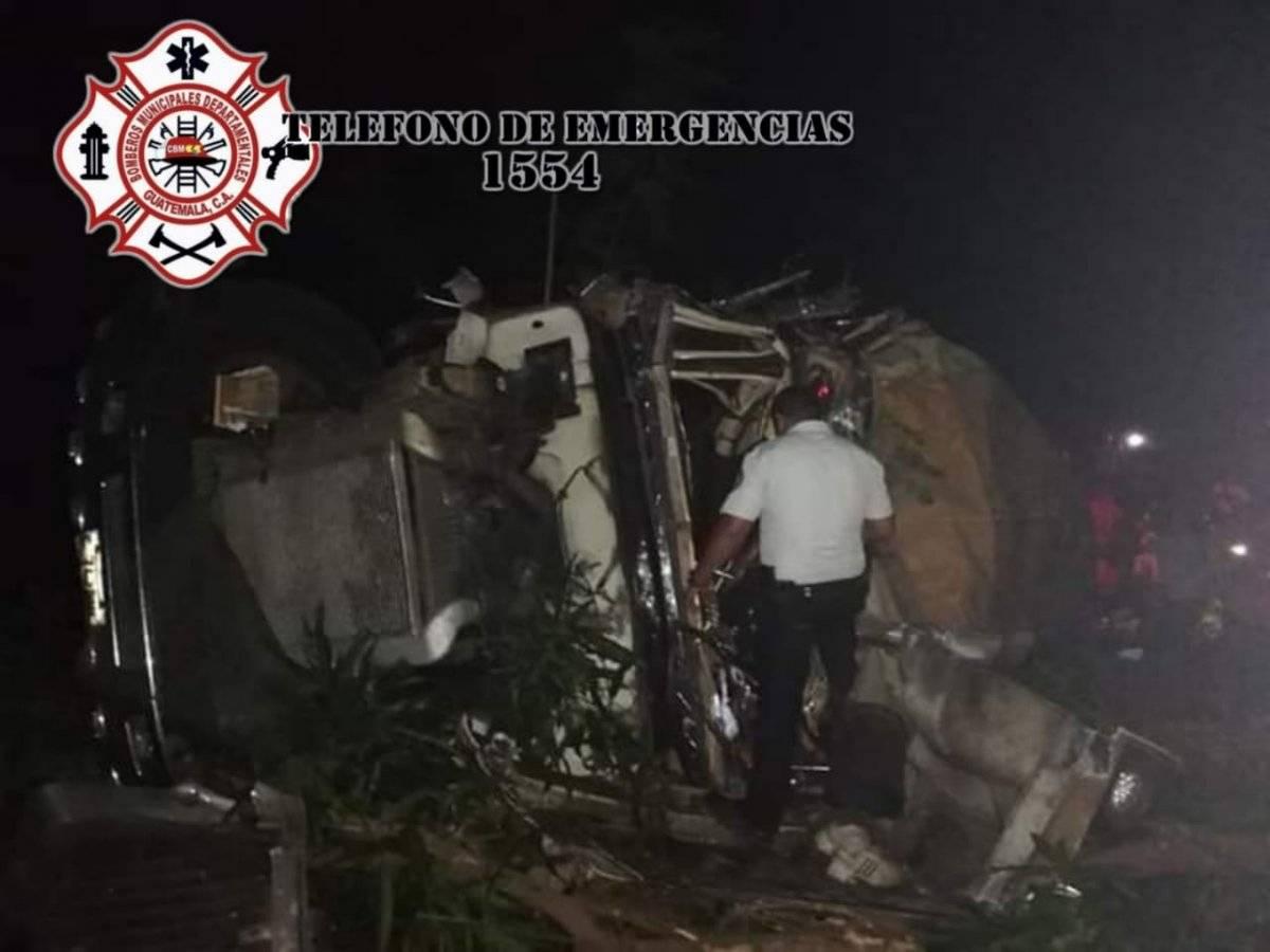 accidente en Km. 137 de ruta a El Salvador