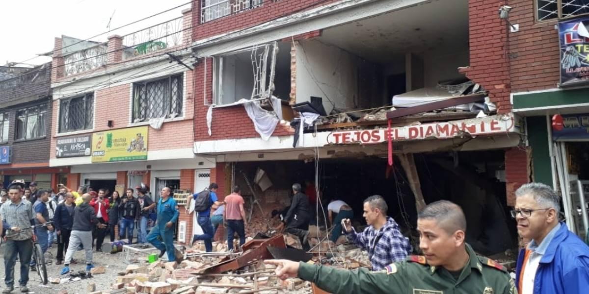 VIDEO: revelan el momento de la explosión en Bogotá