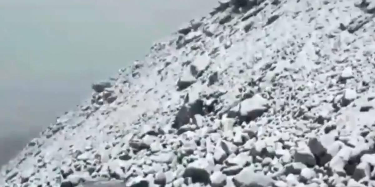 ¡Un espectáculo! El lugar en Colombia donde nevó y sorprendió a todos