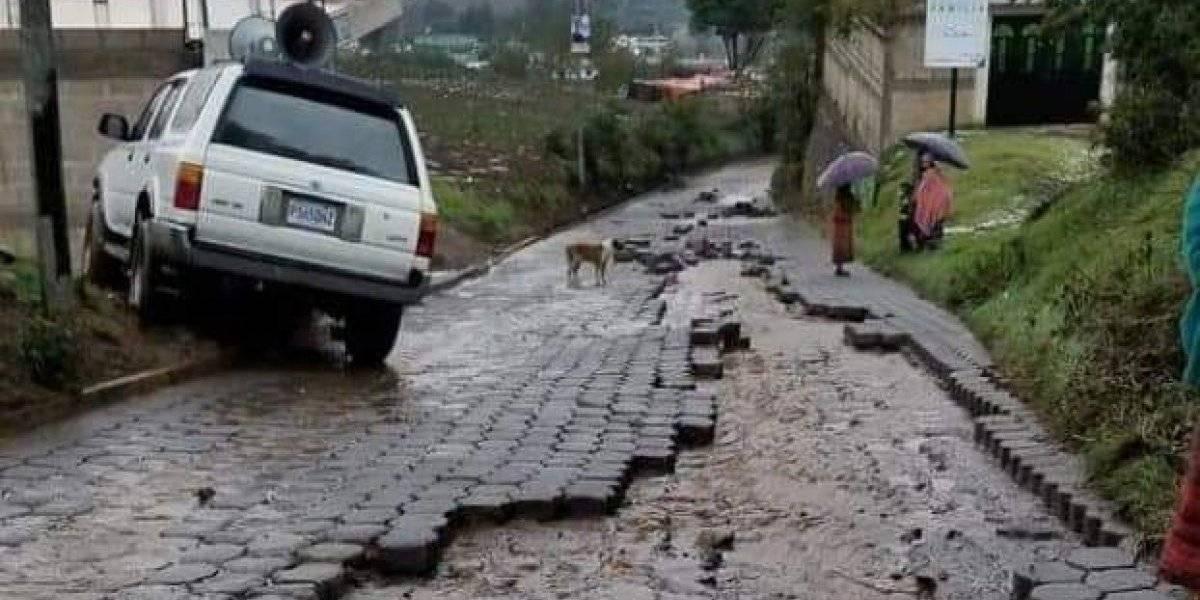 VIDEO: Lluvias causan daños en Quetzaltenango, Quiché y El Progreso