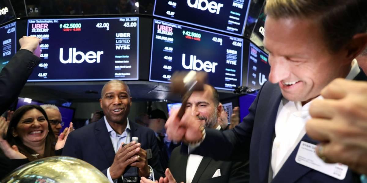 Uber abrió sus operaciones en la bolsa de Nueva York por debajo de las expectativas