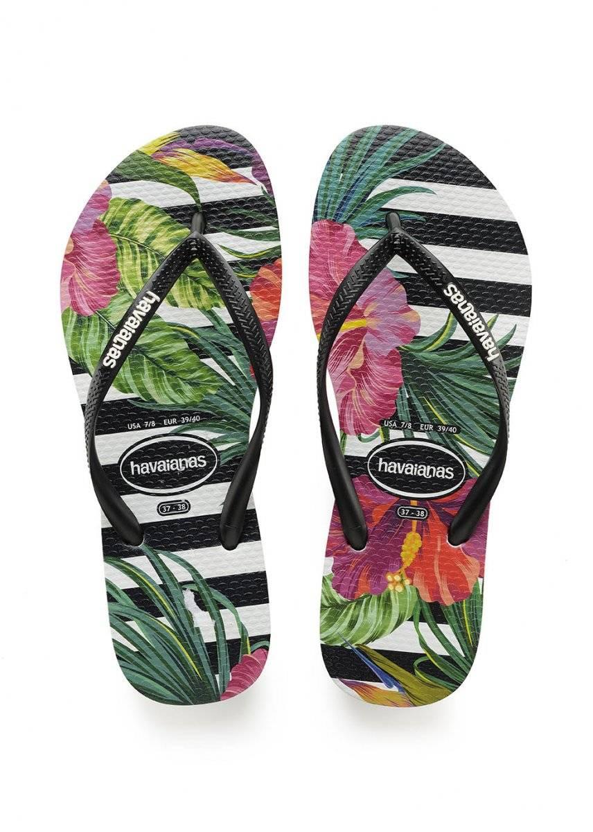 Chinelos Havaianas Slim Floral. Preço sugerido: R$ 39,90 havaianas.com.br Divulgação
