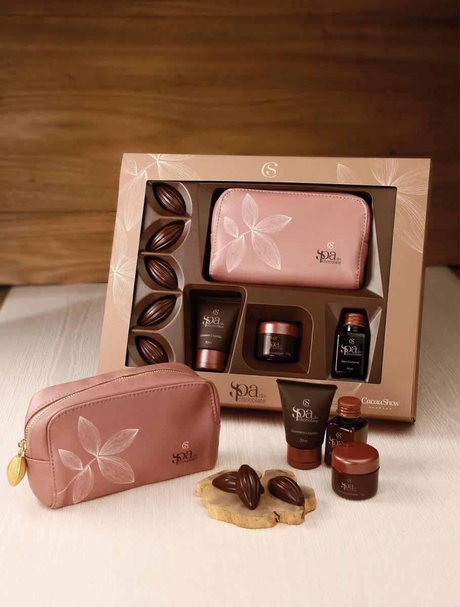 Kit Spa do Chocolate, da Cacau Show. Preço sugerido: R$ 99,90 cacaushow.com.br Divulgação