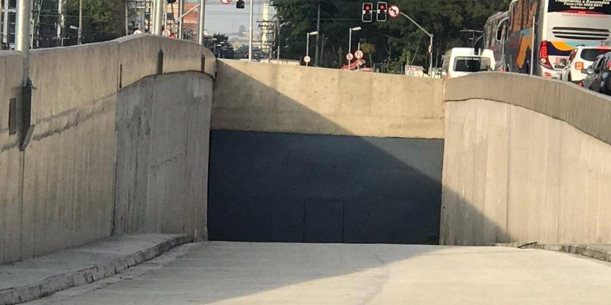 Com apenas entrada pronta, obra de túnel no Brooklin está paralisada por falta de verba