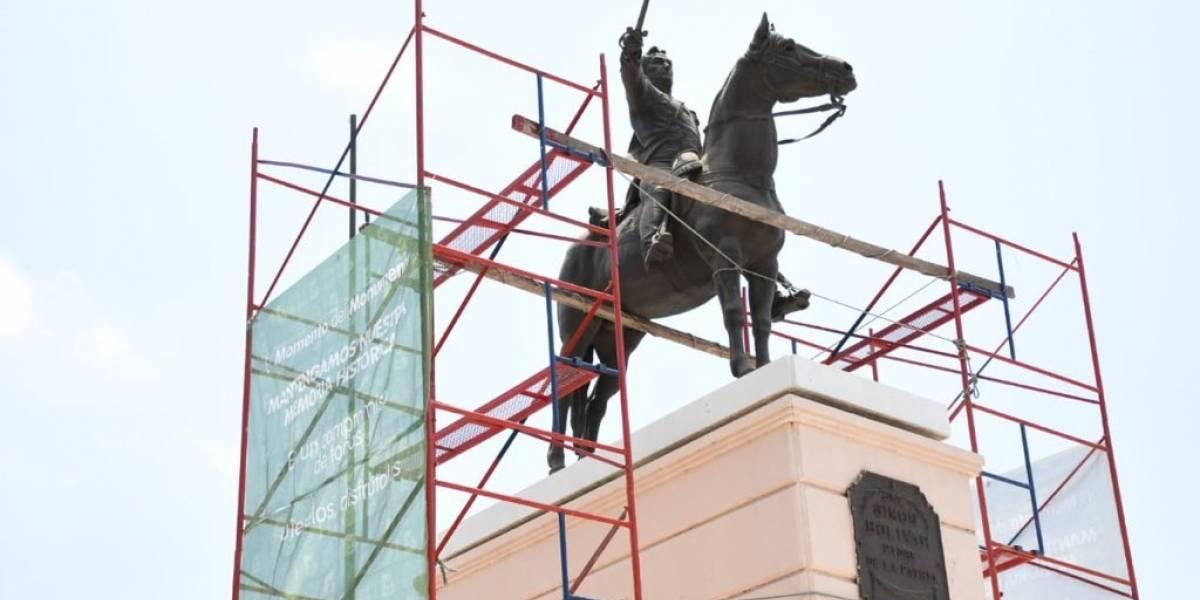 """Los monumentos públicos pasan por un """"cambio extremo"""" en Barranquilla"""