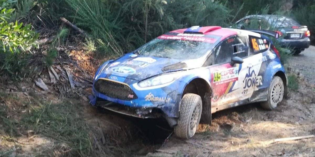 El ingrato WRC de Pedro Heller en Chile: Agredido, choque y abandono en la primera especial