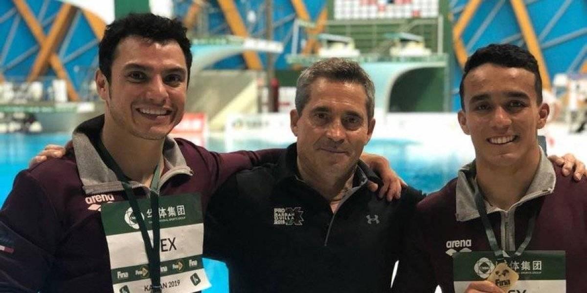 Yahel Castillo y Juan Celaya ganan bronce en Serie Mundial de Clavados