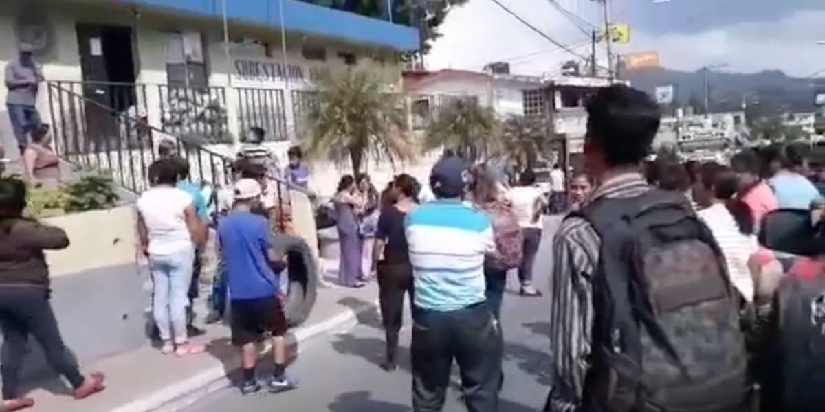 VIDEO. Vecinos de Fraijanes exigen que PNC entregue a presunto secuestrador para lincharlo