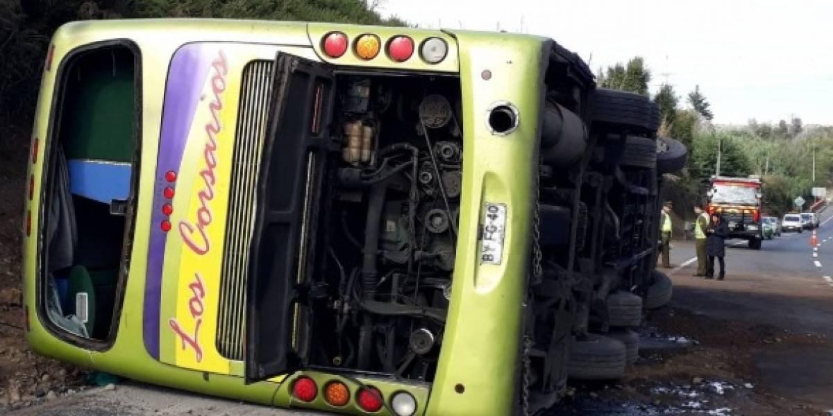 Exceso de velocidad investigan las autoridades: A ampliación de detención fue sometido chofer del bus en Ercilla