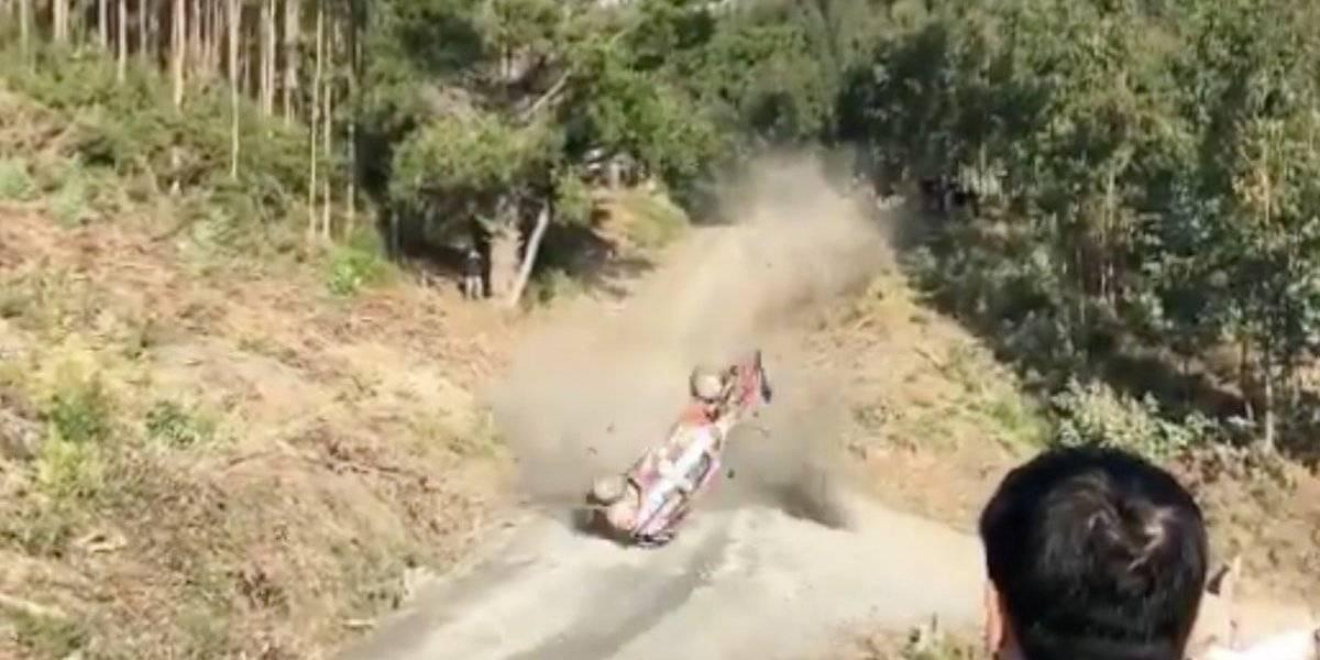 VIDEO: El aparatoso accidente de Thierry Neuville en el Rally de Chile