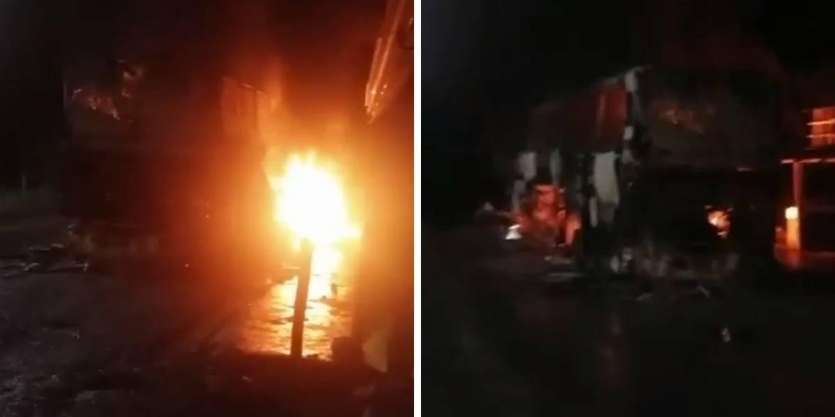 Video: Bus con por lo menos 15 pasajeros se incendió