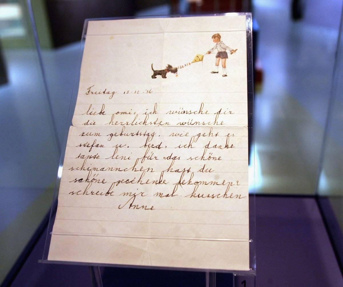 """Anna Frank soñaba con ser escritora y pensaba en publicar su diario bajo el título de """"La casa de atrás"""" . Foto: Getty Images"""