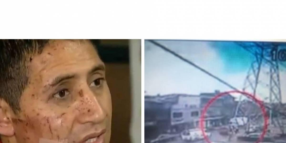 ¡Un milagro! Conductor del camión que recibió explosión sobrevivió y salvó a niños de colegio cercano
