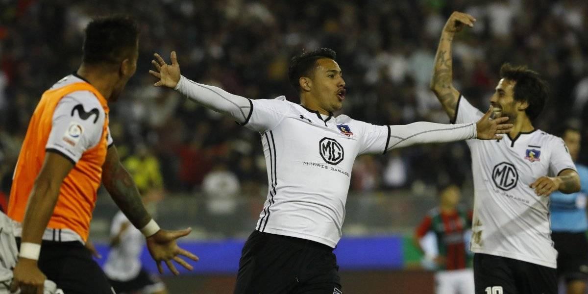 Con goles en el último minuto Colo Colo derrota a Palestino y se mete como único escolta del torneo