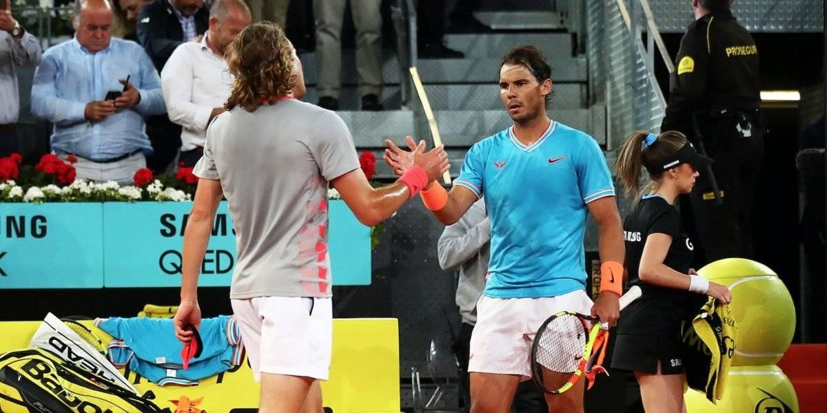 Tsitsipas elimina a Nadal y disputará la final del Madrid Open ante Djokovic