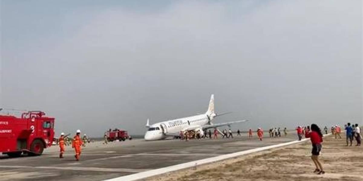 Declaran héroe de Birmania a piloto que aterrizó avión sin tren delantero y 89 pasajeros