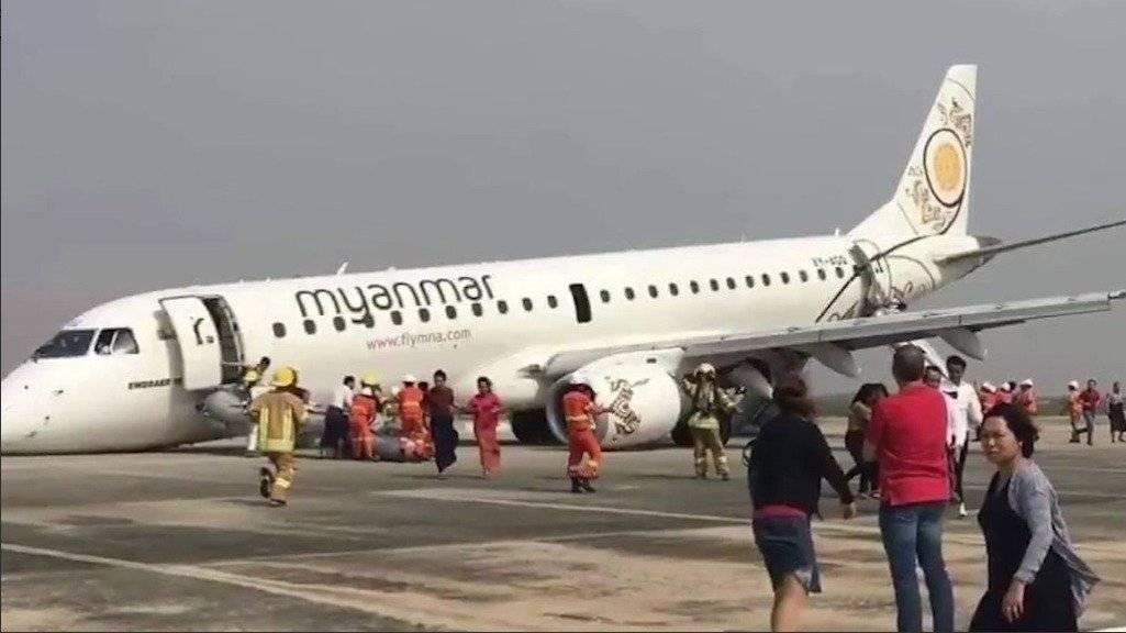 Así vivieron los pasajeros el aterrizaje sin ruedas delanteras en Birmania