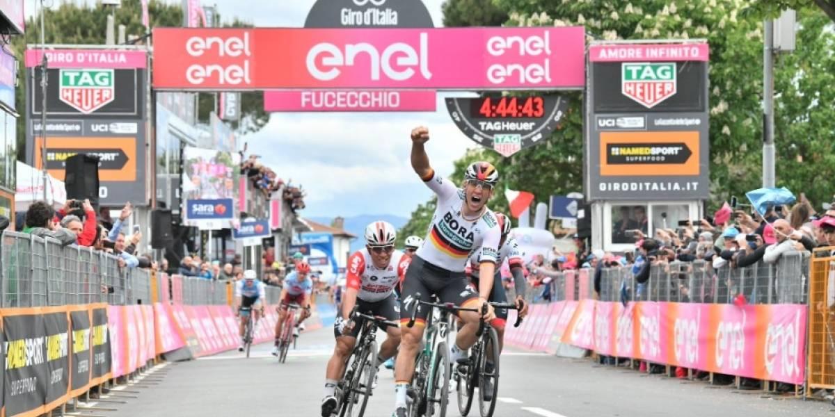 ¡Fernando Gaviria nos puso a vibrar! Así finalizó la clasificación de la etapa 2 del Giro de Italia 2019