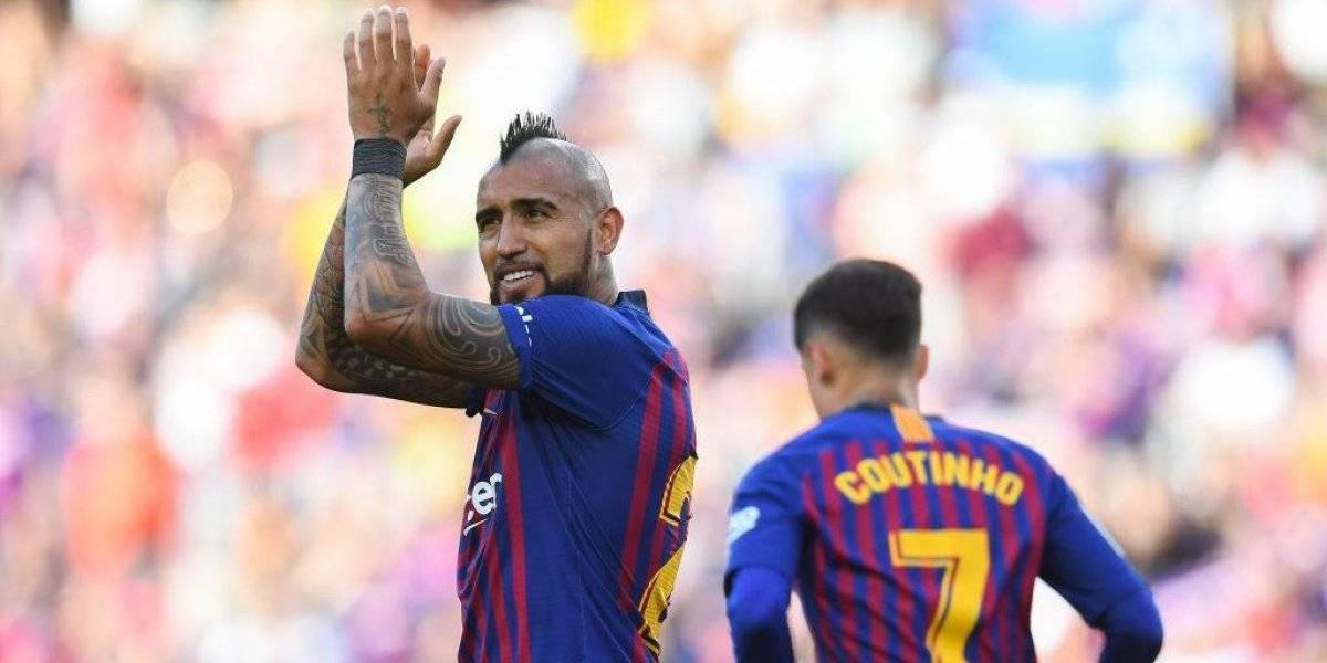 Arturo Vidal se saca la pena con un gol para el Barcelona ante el Getafe