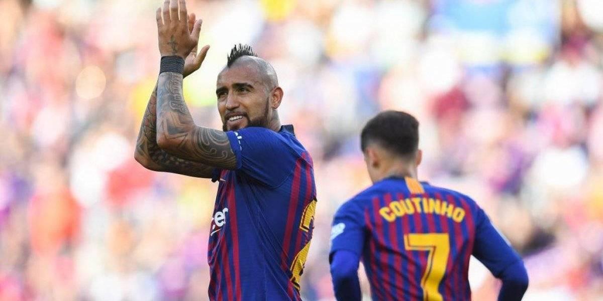 """""""Compite con Messi por los aplausos"""": la prensa española destacó la gran temporada de Vidal en Barcelona"""