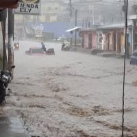 Lluvia ocasiona estragos en el occidente del país