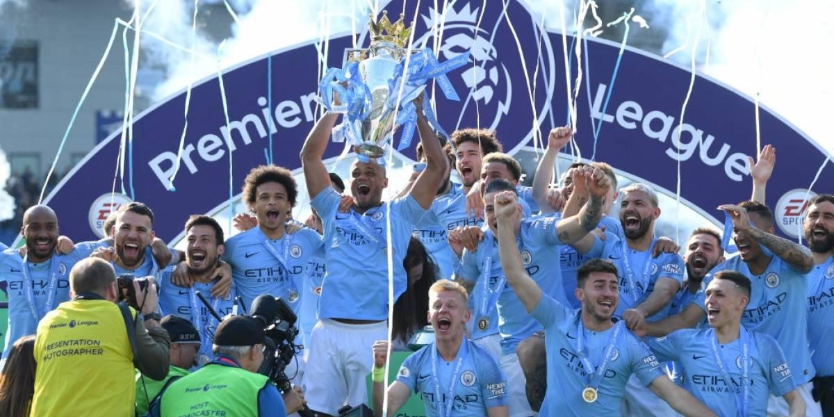 Manchester City es bicampeón de la Premier League