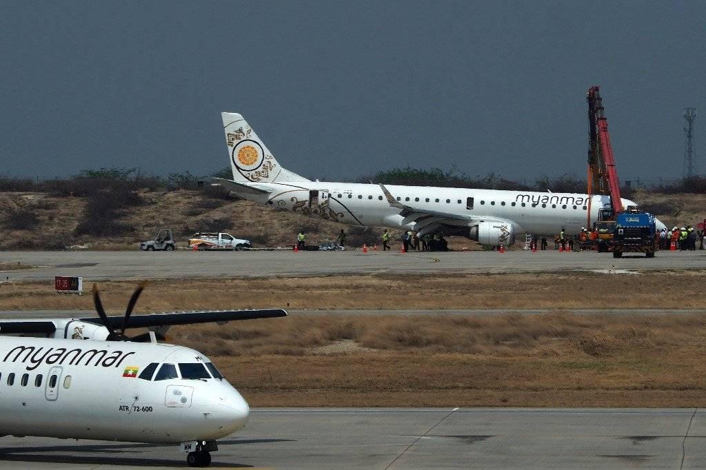 Avión aterriza de emergencia en Birmania