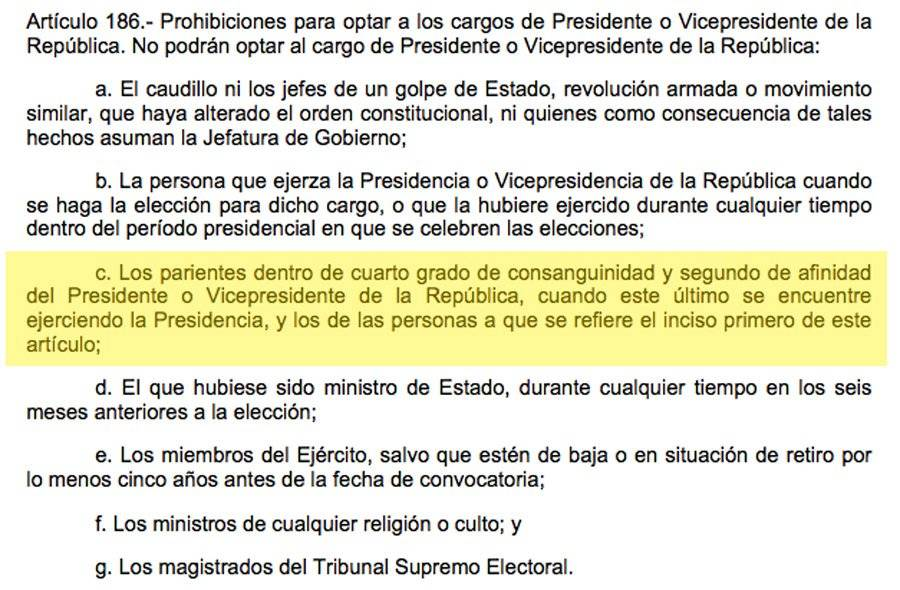 Artículo 186 de la Constitución Política de la República