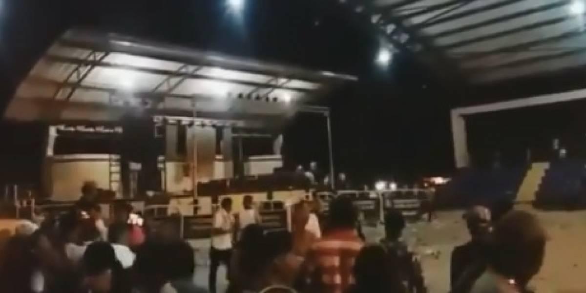 En video: Desórdenes en pueblo colombiano por cancelación de concierto de Ana Del Castillo y Churo Díaz