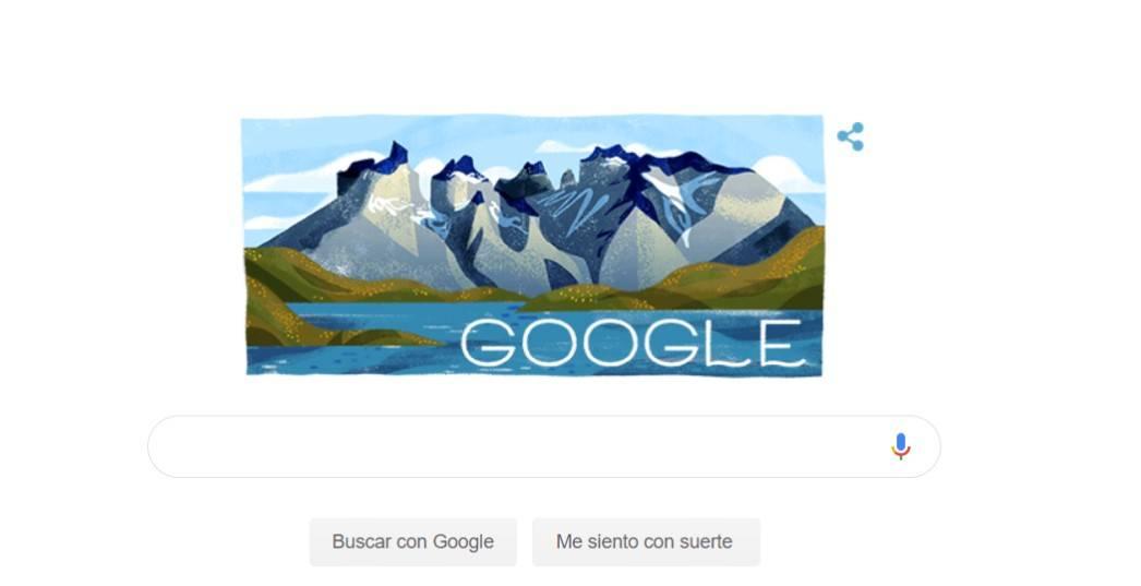 Google dedica llamativo Doodle al Parque Nacional Torres del Paine por su sesenta aniversario