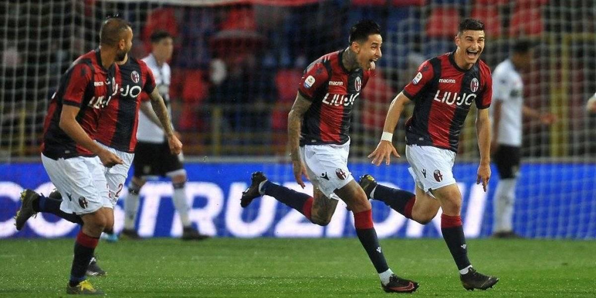 """El """"goleador"""" Erick Pulgar brilla con otra """"joya"""" en Italia y deja casi salvado al Bologna"""