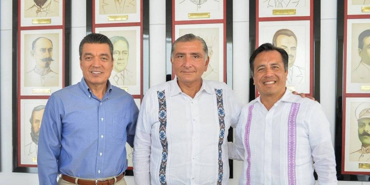 Gobierno de Veracruz impulsa coordinación integral para la paz con Chiapas y Tabasco.