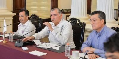 Reunión entre los gobernadores de Chiapas, Veracruz y Tabasco