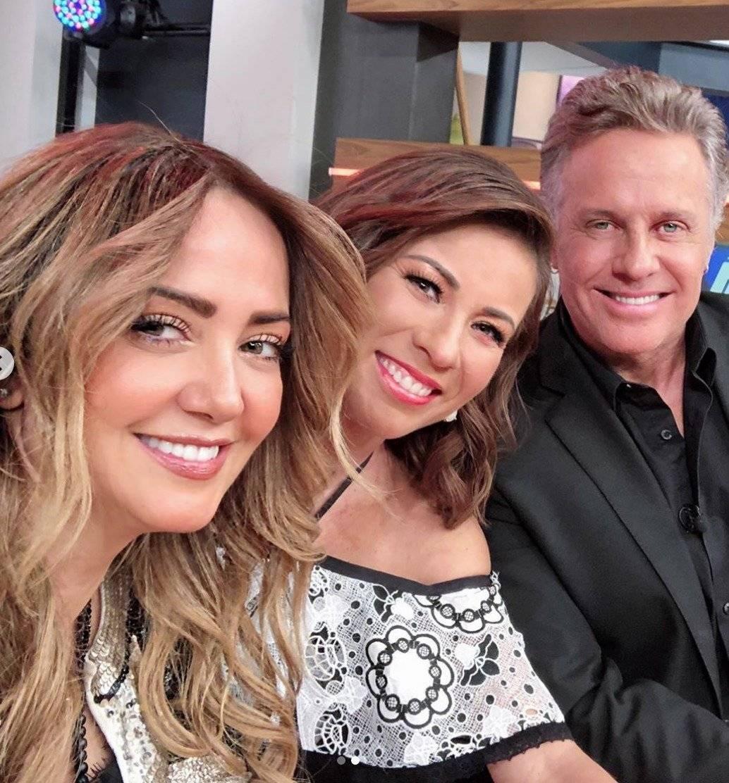 """Ingrid Coronado sorprendió con su visita al programa """"Hoy"""" Instagram: @andrealegarreta"""