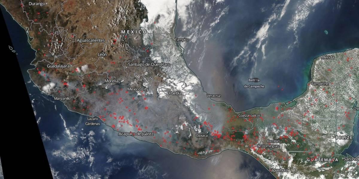 Nasa revela cómo se ven los incendios en México desde el Espacio